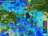 2016年05月10日の滋賀県の雨雲レーダー