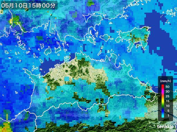 香川県の雨雲レーダー(2016年05月10日)