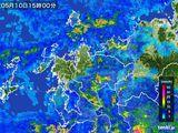 2016年05月10日の佐賀県の雨雲の動き
