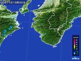 2016年05月11日の和歌山県の雨雲レーダー