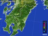 2016年05月11日の宮崎県の雨雲の動き