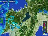 2016年05月16日の滋賀県の雨雲レーダー