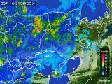 2016年05月16日の兵庫県の雨雲の動き
