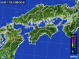 2016年05月17日の四国地方の雨雲の動き