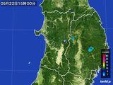2016年05月22日の秋田県の雨雲の動き