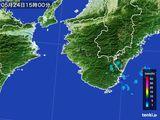 2016年05月24日の和歌山県の雨雲レーダー