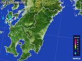 2016年05月24日の宮崎県の雨雲の動き