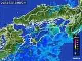 2016年05月25日の四国地方の雨雲の動き