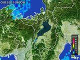 2016年05月25日の滋賀県の雨雲レーダー