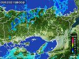 2016年05月25日の兵庫県の雨雲の動き