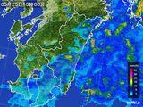 2016年05月25日の宮崎県の雨雲の動き