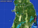 2016年05月25日の秋田県の雨雲の動き