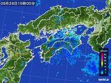 2016年05月26日の四国地方の雨雲の動き