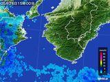 2016年05月26日の和歌山県の雨雲レーダー