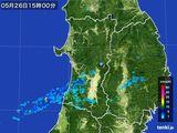 2016年05月26日の秋田県の雨雲の動き
