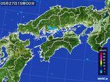 2016年05月27日の四国地方の雨雲の動き