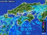 2016年05月28日の四国地方の雨雲の動き