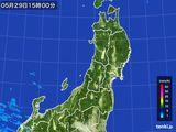 2016年05月29日の東北地方の雨雲レーダー