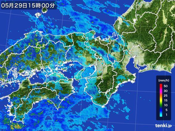 近畿地方の雨雲レーダー(2016年05月29日)