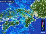 2016年05月29日の近畿地方の雨雲レーダー