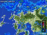 2016年05月29日の佐賀県の雨雲の動き