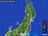 2016年05月30日の東北地方の雨雲レーダー