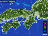 2016年05月31日の近畿地方の雨雲レーダー