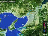 2016年05月31日の大阪府の雨雲レーダー