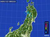 2016年06月01日の東北地方の雨雲レーダー