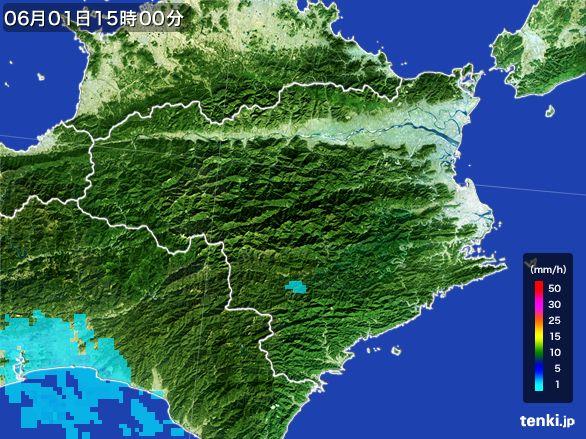 徳島県の雨雲レーダー(2016年06月01日)