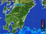 2016年06月01日の宮崎県の雨雲の動き