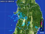 2016年06月01日の秋田県の雨雲の動き