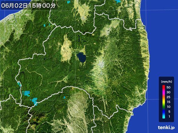 福島県の雨雲レーダー(2016年06月02日)