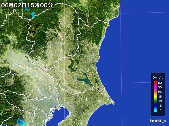 茨城県の雨雲レーダー(2016年06月02日)
