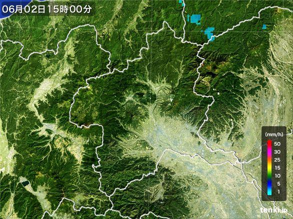 群馬県の雨雲レーダー(2016年06月02日)