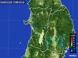 2016年06月02日の秋田県の雨雲の動き