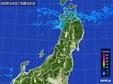 2016年06月04日の東北地方の雨雲レーダー