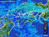 2016年06月04日の四国地方の雨雲の動き