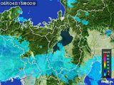 2016年06月04日の滋賀県の雨雲レーダー
