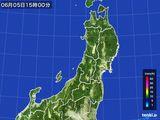 2016年06月05日の東北地方の雨雲レーダー