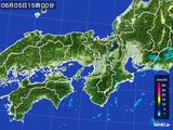 2016年06月05日の近畿地方の雨雲レーダー
