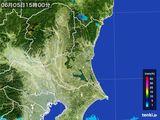 2016年06月05日の茨城県の雨雲レーダー