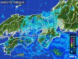 2016年06月07日の近畿地方の雨雲レーダー