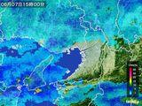 2016年06月07日の大阪府の雨雲レーダー