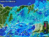 2016年06月07日の兵庫県の雨雲レーダー