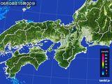 2016年06月08日の近畿地方の雨雲レーダー