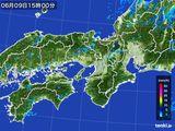 2016年06月09日の近畿地方の雨雲レーダー