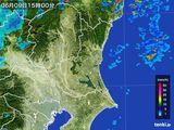 2016年06月09日の茨城県の雨雲レーダー