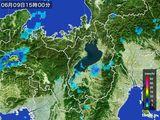 2016年06月09日の滋賀県の雨雲レーダー