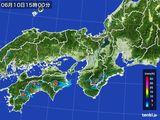 2016年06月10日の近畿地方の雨雲レーダー
